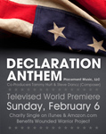 "PLACEMENT MUSIC ROCKS AN AUDIENCE OF 100 MILLION+ IN MORE THAN 200 COUNTRIES. TUNE IN SUPER BOWL SUNDAY, FEBRUARY 6, AT 5:52 PM EST ON FOX TO HEAR PLACEMENT MUSIC'S ""DECLARATION ANTHEM"""