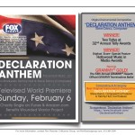 "Steve Dancz, Tammy Hurt and Placement Music thank you for a banner year for ""Declaration Anthem"", the multiple award-winning score commissioned by FOX Sports for Super Bowl XLV"